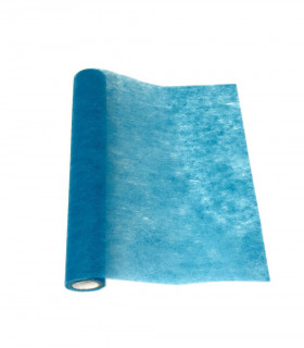 Chemin de table Larg 50cm intissé eco Bleu Azur