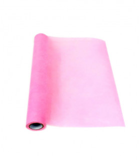 Chemin de table Larg 50cm intissé eco Rose