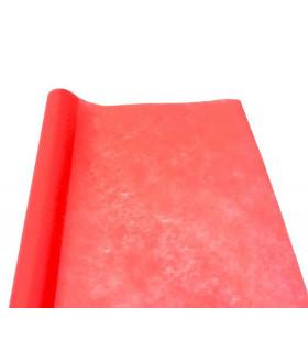 Chemin de table Larg 50cm intissé eco Rouge