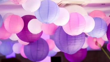 Lanterne en papier lampion 20cm 25 cm 30cm 35cm et 40cm mariage deco plafond